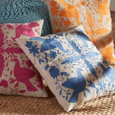Satara Embroidered Pillow Cover