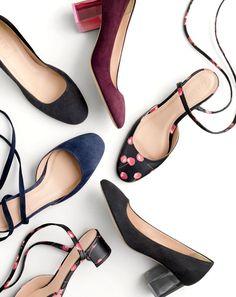 J.Crew low heels.