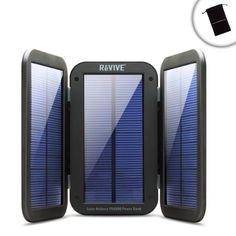 Introducing ReStore PX6000 Folding Solar Charger  6000mAh Power Bank w Portable Design  BuiltIn Kickstand by ReVIVE  Works with GoPro Hero Session  Hero4 Silver  Hero3 Black Edition  More Action Cameras. Great Product and follow us to get more updates!