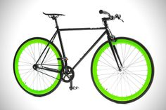 The Hotel Glow In The Dark Wheels Bicycle by Pure Fix Cycles - lifestylerstore - http://www.lifestylerstore.com/the-hotel-glow-in-the-dark-wheels-bicycle-by-pure-fix-cycles/