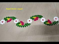 Trendy simple class room door ideas for kids 38 ideas Easy Rangoli Designs Videos, Rangoli Designs Latest, Simple Rangoli Designs Images, Rangoli Designs Flower, Rangoli Border Designs, Colorful Rangoli Designs, Rangoli Designs Diwali, Border Embroidery Designs, Flower Rangoli
