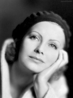 Greta Garbo In A Beret Was A Popular Cover Photo In The Early 30's.