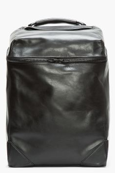Alexander Wang Black Leather Wallie Backpack