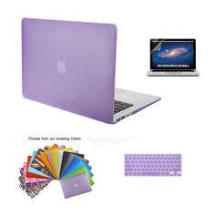 """Amazon.com: MacBook Air 13"""" Case TECOOL® 3 in 1 Ultra Slim Multi Colors Plastic Hard Case Cover, Silicone Keyboard Cover and Screen Protection for MacBook Air 13"""" with TECOOL® Logo Mouse Pad (MacBook Air 13"""" Model: A1466 and A1369, Light Blue): Electronics"""