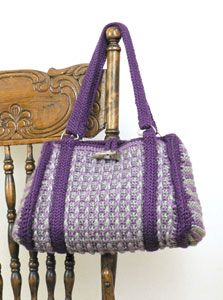 Free Crochet Textured Purse Pattern.