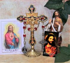 Unique Unbreakable Catholic Chaplet of The Sacred Heart of Jesus - Traditional Novena Prayer Included by foodforthesoul on Etsy