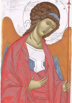 Studio icona Arcangelo Michele 04