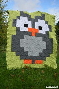 Granny crochet owl blanket by Lu et Cie