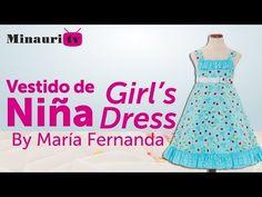 DIY - Girl Dress - Vestido Niña - Vestito Bambina - Robe Fille - Mädchen-Kleid - YouTube