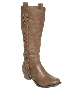 Unlisted Shoes, Country Club Wide Calf Tall Boots - Extended Calf Boots - Shoes - Macy's