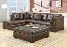 The Coaster Darie Sectional Sofa collection with left-side Chaise is a great darker colored sofa with lots of features that will nicely accent your living room space.Las Vegas Furniture Online   LasVegasFurnitureOnline   Lasvegasfurnitureonline.com