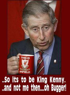 Prince Charles with LFC Mug