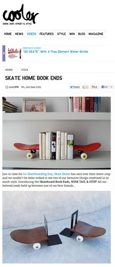 Skate Home Book Ends