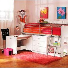 The original loft bed picture I found, inspiring me to build one that does not waste any space.