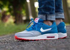 + Nike Air Max 1 Military Blue Wolf Grey