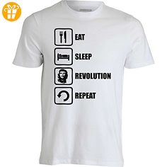 Eat Sleep Revolution Repeat Che Guevara Graphic Men's T-Shirt XX-Large (*Partner-Link)
