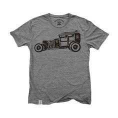 Rat Rod Woody: Tri-Blend Short Sleeve T-Shirt in Tri Vintage Grey