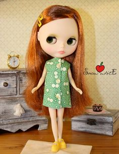 Dress outfit clothes dress for Blythe di SnowhitEfashion4doll, $18.95