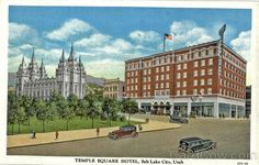 Temple Square Hotel Salt Lake City Utah.  My grandparents had their wedding breakfast there in the 1950s.