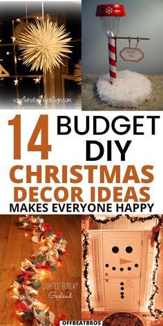 Christmas Decor Diy Cheap, Diy Christmas Garland, Country Christmas Decorations, Diy Christmas Gifts, Diy Christmas Centerpieces, Christmas Fun, Diy Christmas Projects, December, Decor Ideas