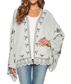 Free People Embroidered Kimono Jacket  NWT Sz XS, S , M  $128 Retail #FreePeople #BoleroShrug