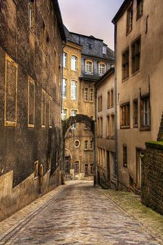 Luxemburg city, we found awesome small restaurants hidden in these side streets.