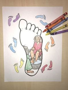 FREE Jesus Washes His Disciples Feet Coloring Page