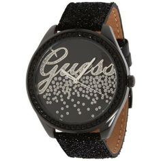 Guess Women's U96002L1 Black Leather Quartz Watch with Black Dial GUESS. $89.97. Water Resistant - 30M. Case Size:  44mm Diameter, 11mm Thickness. Precise Japan Quartz Movement. Mineral Crystal, Crystal Glitz Accented Bezel. Stainless Steel Case with Leather Strap