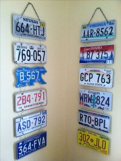 License Plate Hanging