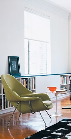 "Eero Saarinen designed the Womb Chair at Florence Knoll's specific request for ""...something I could curl up in."""