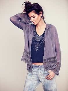 FP ONE Softly Woven Jacket in storm | Free People