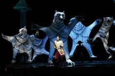 Enchanted animals from the current Julie Taymor production of Die Zauberflöte at The Met.