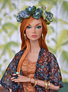 """Ooak Poppy Parker"" by Sandra (Bonequea) | bonequea.com/?p=8189 | 11 March 2007 (Day after my Kirsten's 17th B-Day!)"