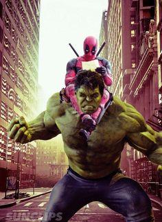 #Hulk #Fan #Art. (Deadpool/Hulk - Team up!) By:SUNCLIPS101. ÅWESOMENESS!!!™ ÅÅÅ+