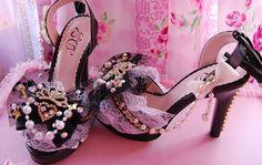 bows-cute-heels-lace-pink-shoes-Favim.com-62277 | True Love