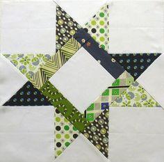 Quilt block braced star