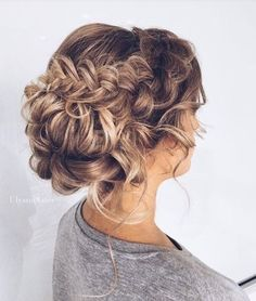 Pretty Braided Updo Hairstyle