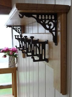 Our vintage style Mackintosh collection is a real thing of beauty. Combining robust iron-mongery with skilled woodwork, this solid oak coat rack is a true statement piece for any home.