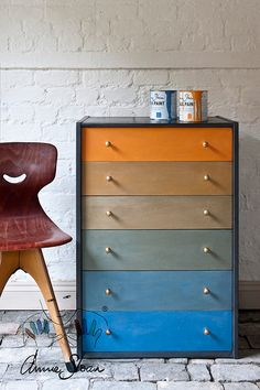 Drawers painted using Chalk Paint by Annie Sloan