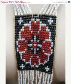 One Day Sale Half Off Long Vintage Tribal Woven Seed by Glamaroni, $18.00