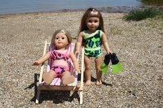 Arts and Crafts for your American Girl Doll: At the beach - overview for American Girl Doll