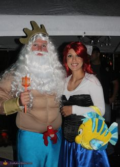 King Triton and the Little Mermaid - 2012 Halloween Costume Contest