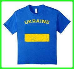 Kids Ukraine Flag T-Shirt Distressed Retro Ukrainian Flag Shirt 6 Royal Blue - Retro shirts (*Amazon Partner-Link)