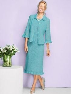 d1f5e54b94f Women s Petite Dotted Georgette Jacket Dress by Appleseed s