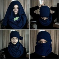 how to make a ninja mask with a t shirt