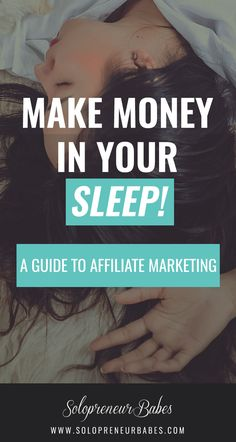 Want to make money in your sleep? Affiliate marketing is an easy way to add to your monthly income! Find out more on the blog.