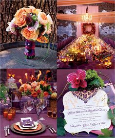 i usually go for the eclectic romance look for wedding ideas but this is so fun and vibrant.
