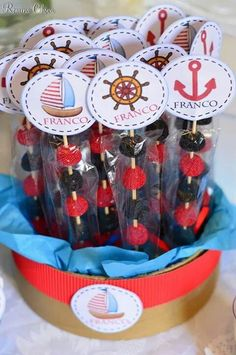 Ideas Baby Boy Shower Nautical Theme Decoration For 2019 Baby Shower Marinero, Sailor Birthday, Nautical Party, Boy Decor, Baby Shower Parties, Baby Boy Shower, Baby Shower Invitations, First Birthdays, New Baby Products