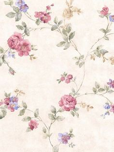 Rose wall paper