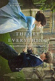 "The Theory of Everything. 83 critic. 82 audience. ""The extraordinary story of one of the world's greatest living minds, the renowned astrophysicist Stephen Hawking, who falls deeply in love with fellow Cambridge student Jane Wilde. Once a healthy, active young man, Hawking received an earth-shattering diagnosis at 21 years of age. With Jane fighting tirelessly by his side, Stephen embarks on his most ambitious scientific work."""